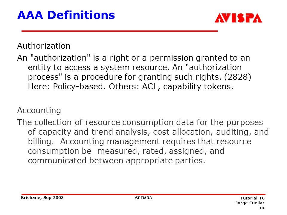 AAAA Definitions Accountability