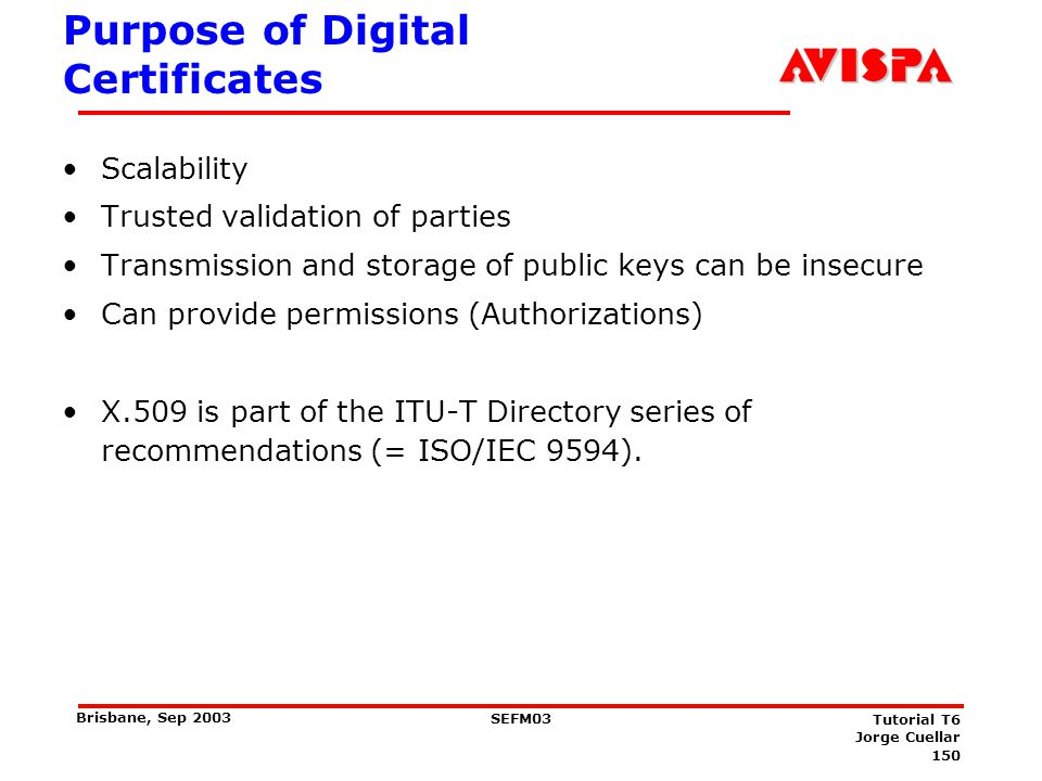 The minimal Public Key Certificate