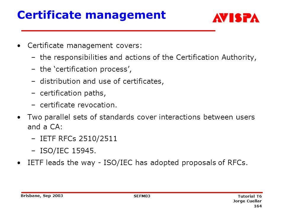 The Certification Authority