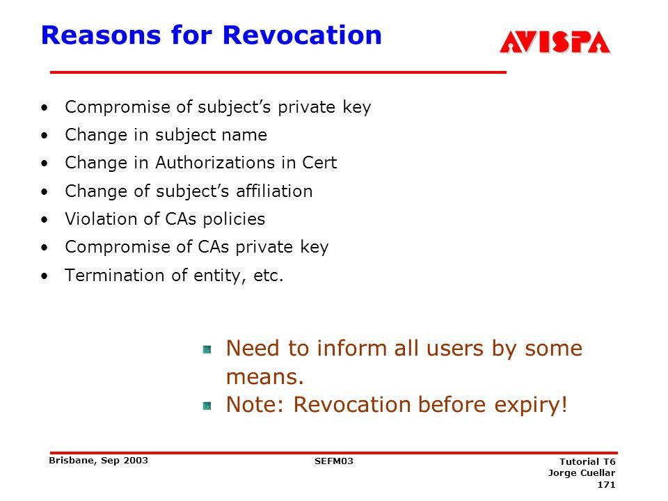 Certificate Revocation List, Version 2 (current)