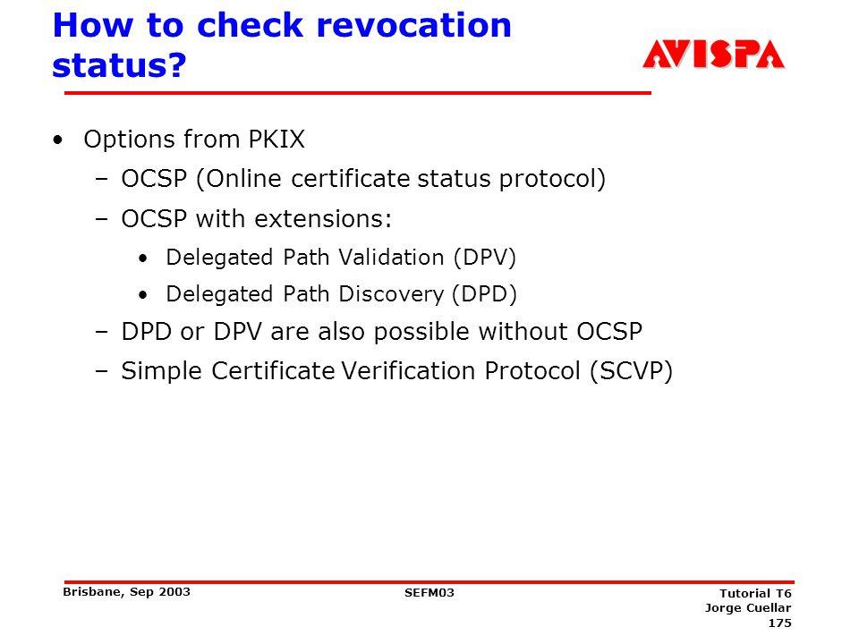 Online certificate status protocol