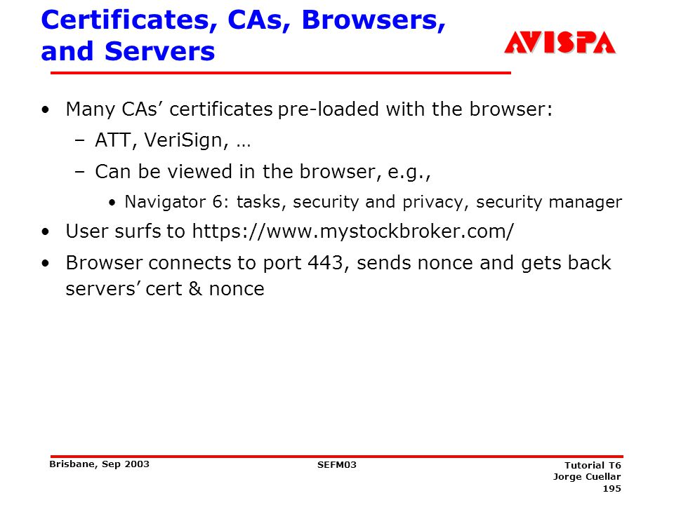 Certificates, CAs, Browsers, and Servers