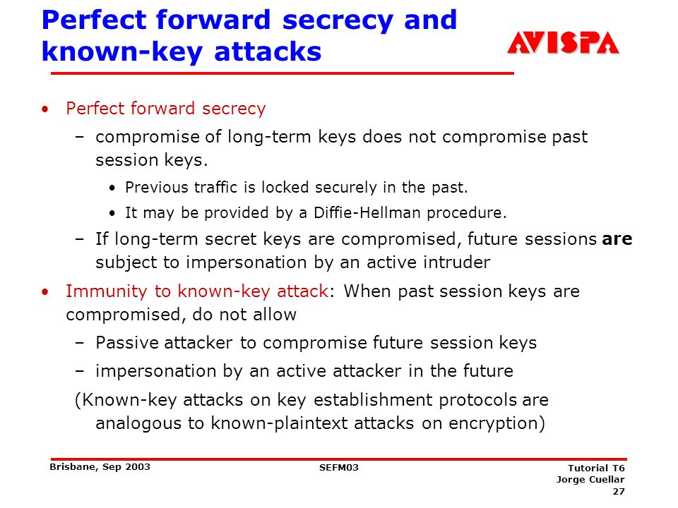 Many types of keys Sealing key: a shared secret key used for computing cryptographic checkvalues (MACs)