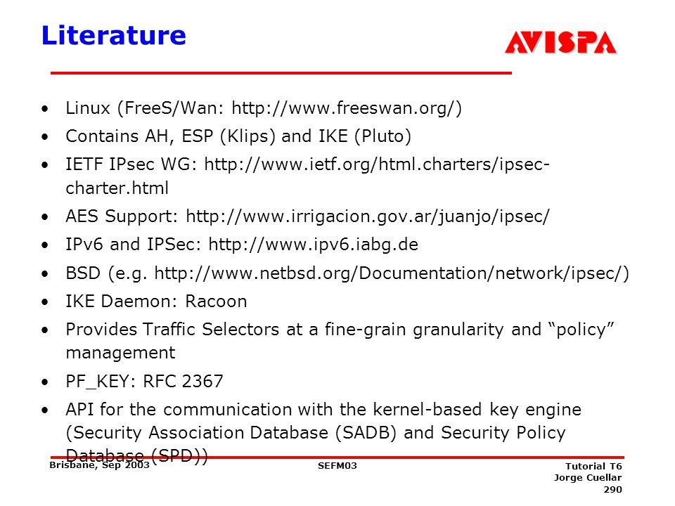 Literature Kerberos IETF WG:
