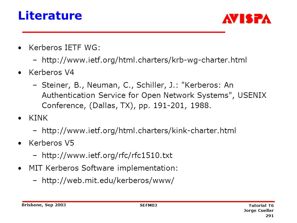 Literature IETF Mobile IP WG: