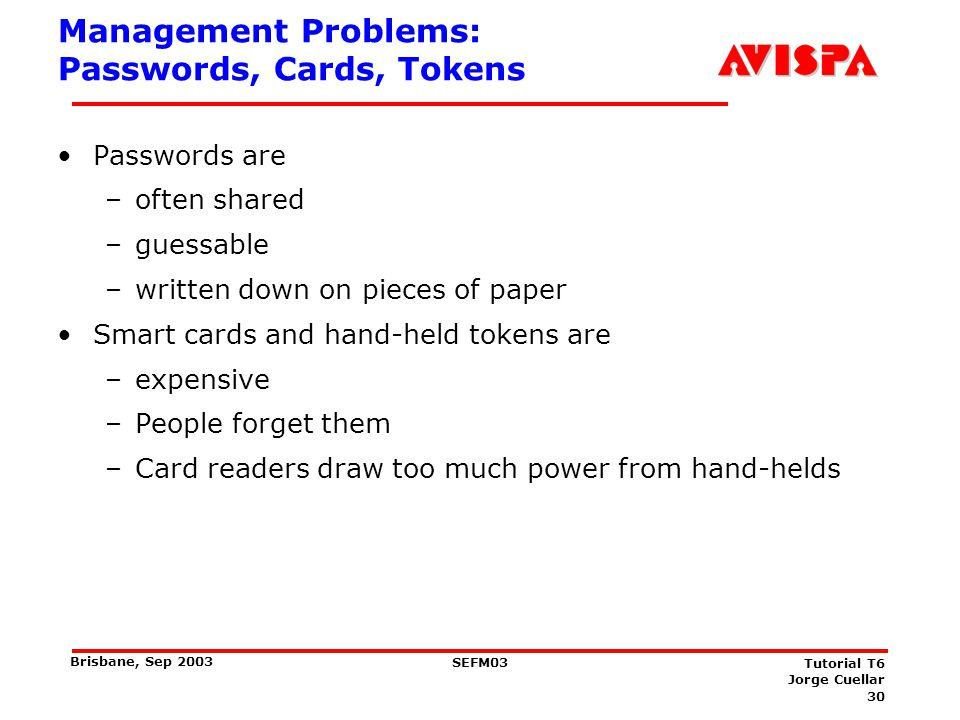 Management Problems: WLAN/WEP