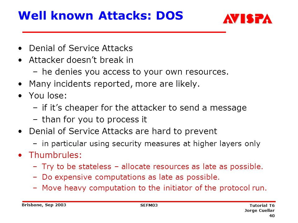 DOS Example: Smurf Attack