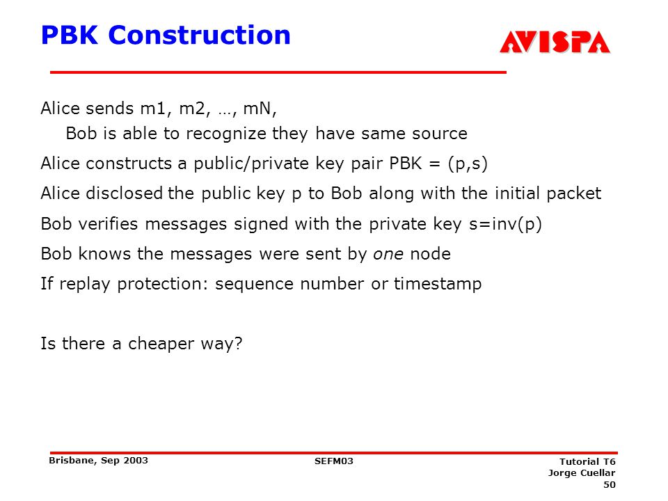 Generalized PBK: Requirements
