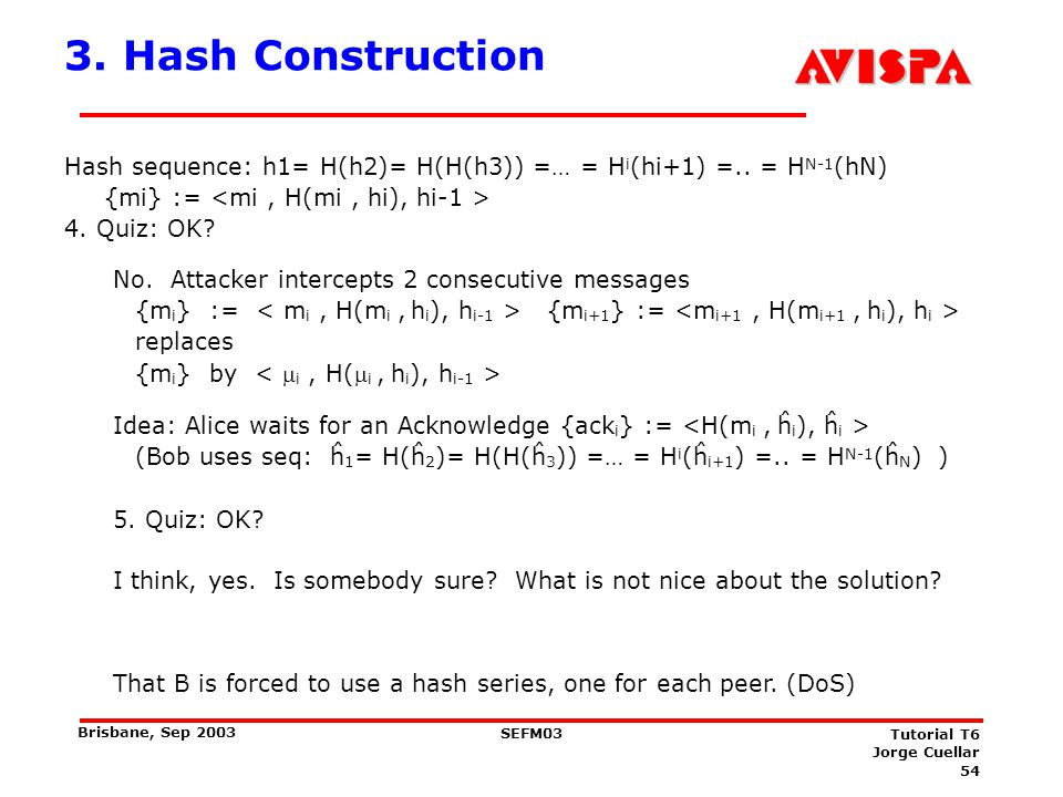 4. Hash Construction I think, yes. Is somebody sure