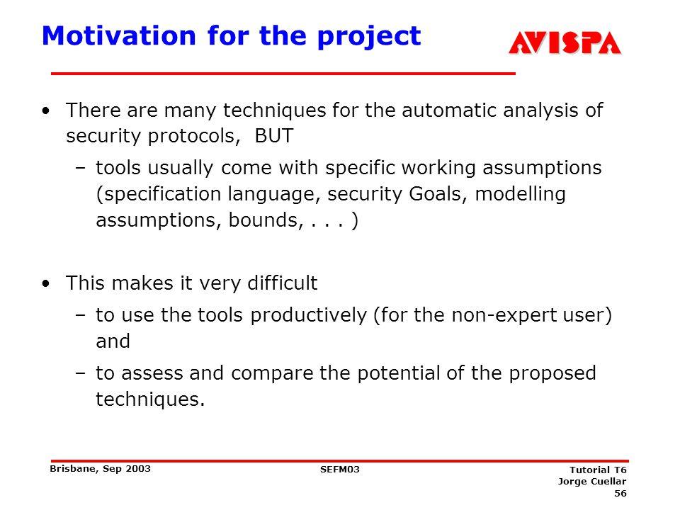 Objectives of the AVISPA Project