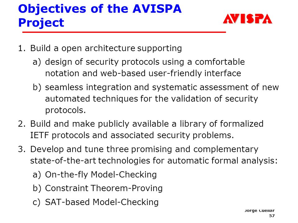 Architecture of the AVISPA Tool