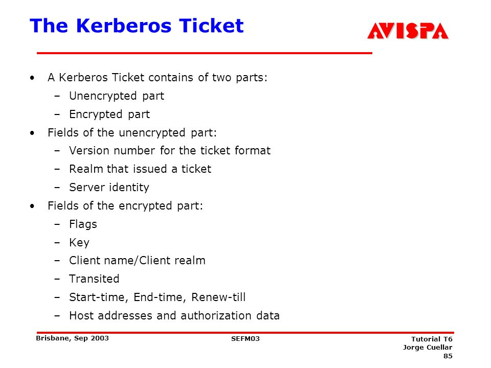 Example: Service Ticket