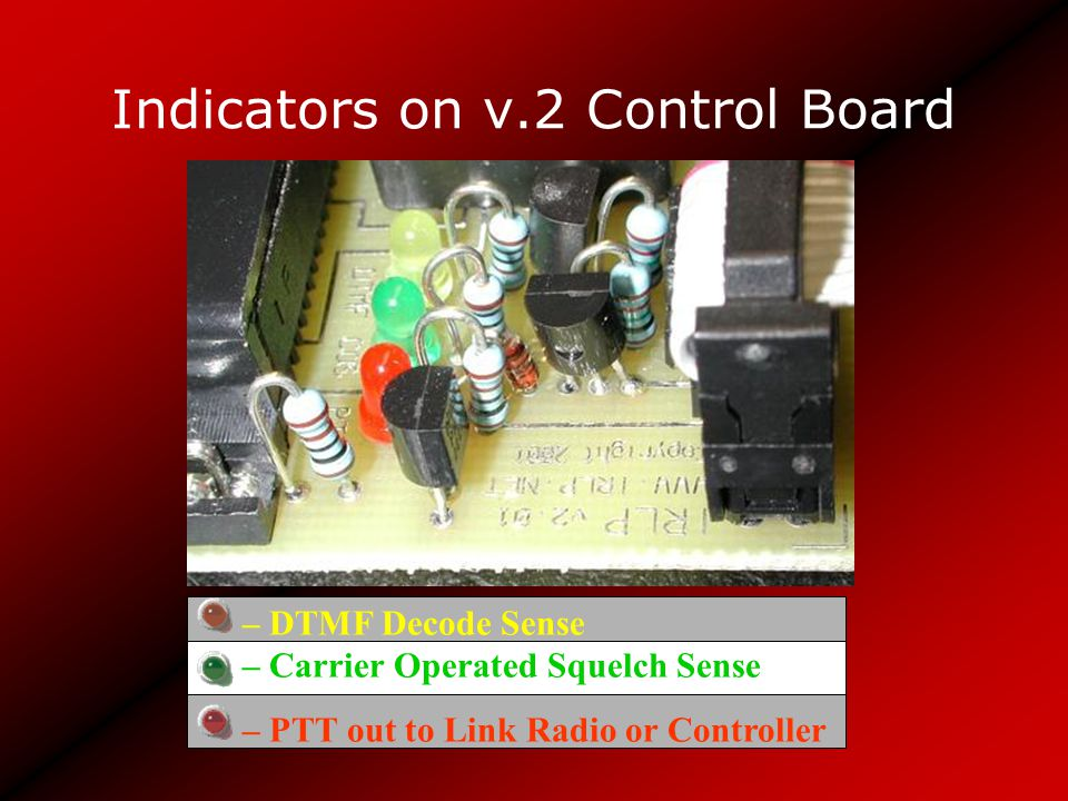 Indicators on v.2 Control Board