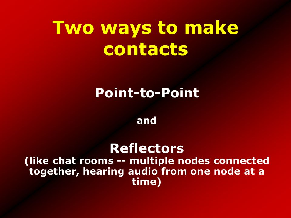 Two ways to make contacts