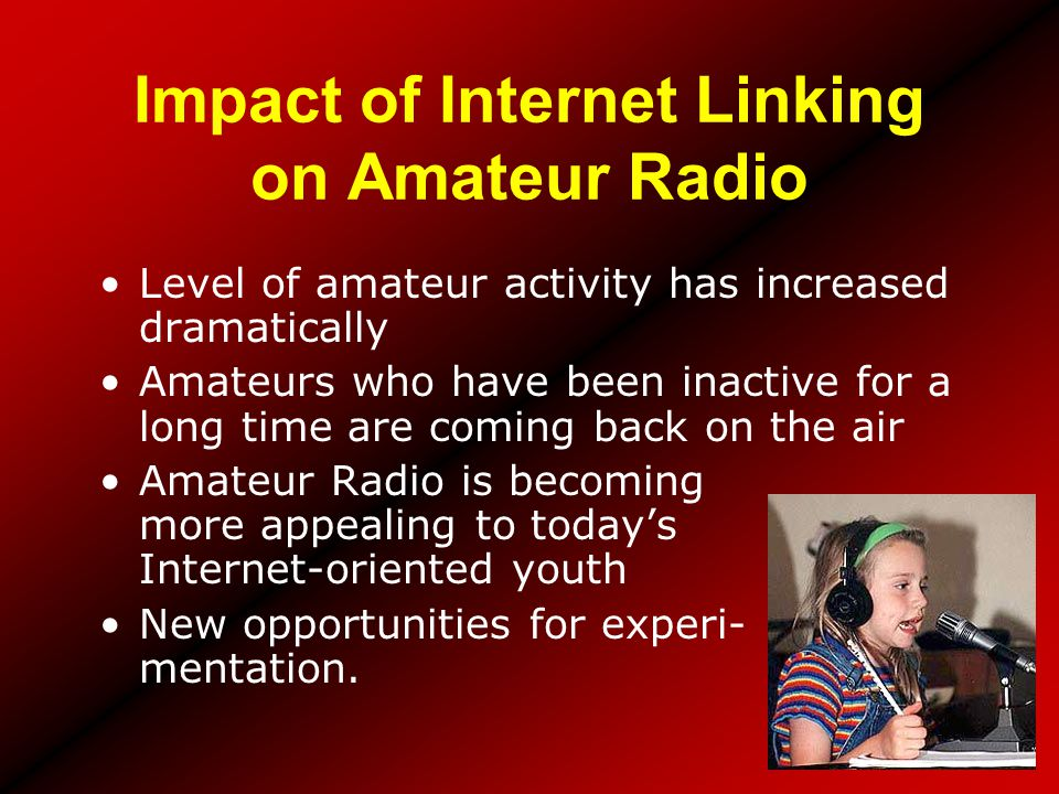 Impact of Internet Linking on Amateur Radio