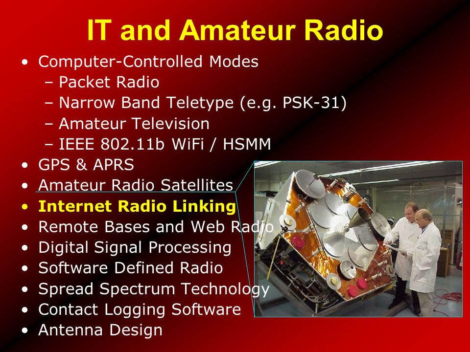 IT and Amateur Radio Computer-Controlled Modes Packet Radio