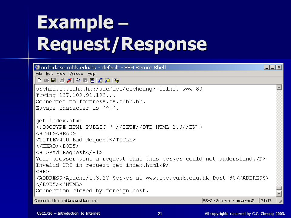 Example – Request/Response