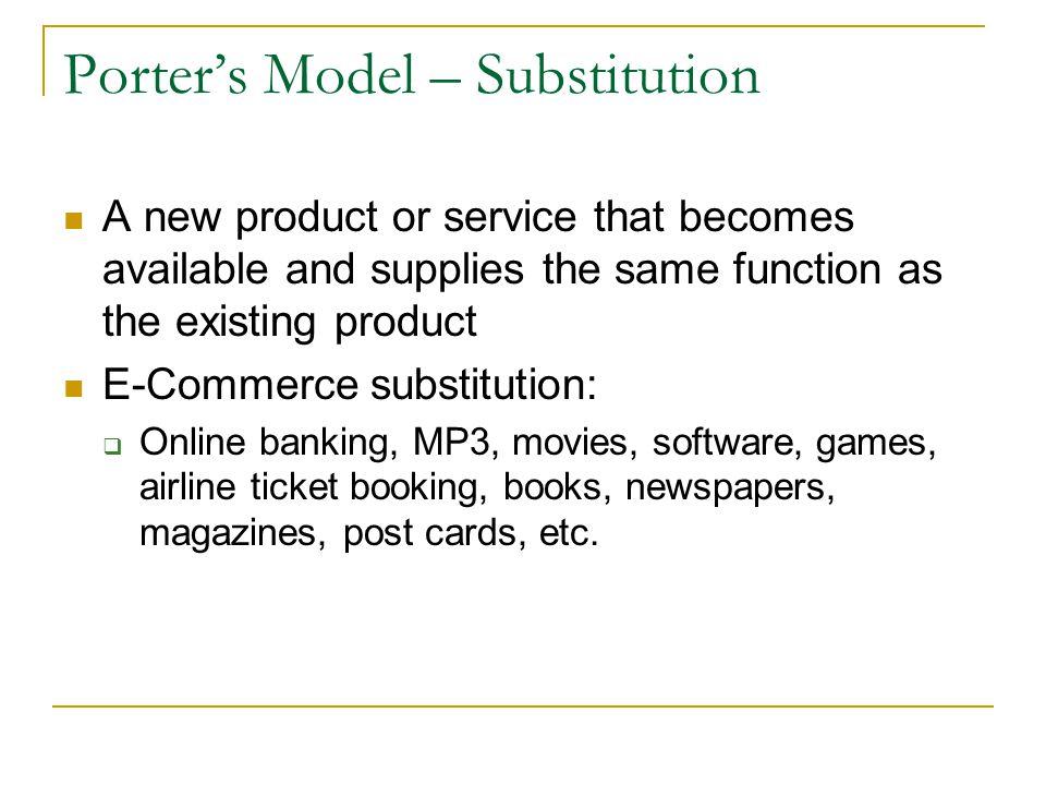 Porter's Model – Substitution