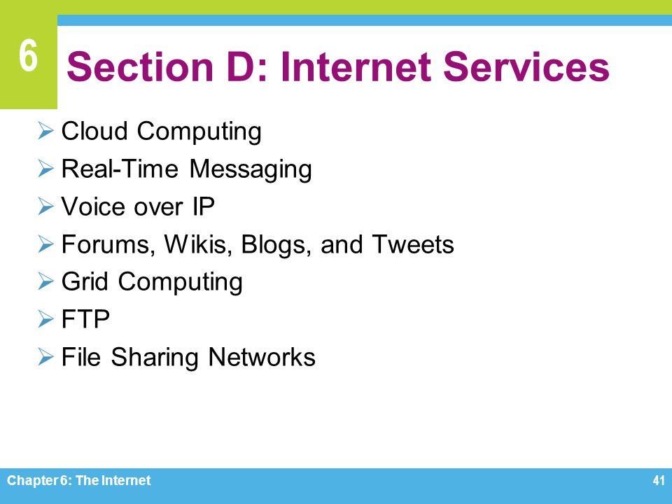 Section D: Internet Services