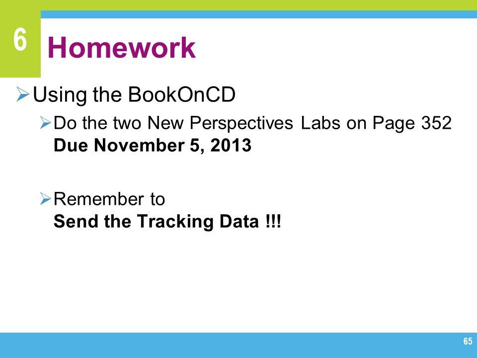 Homework Using the BookOnCD