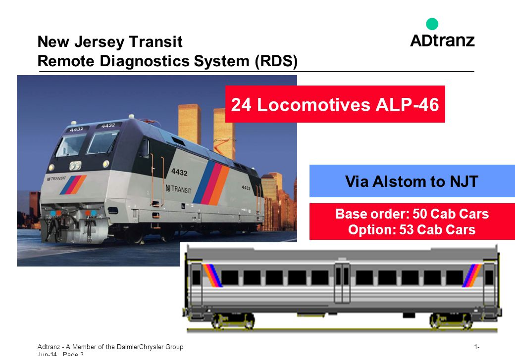 New Jersey Transit Remote Diagnostics System (RDS)