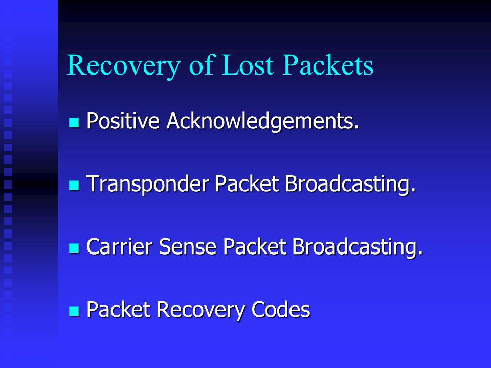 Recovery of Lost Packets