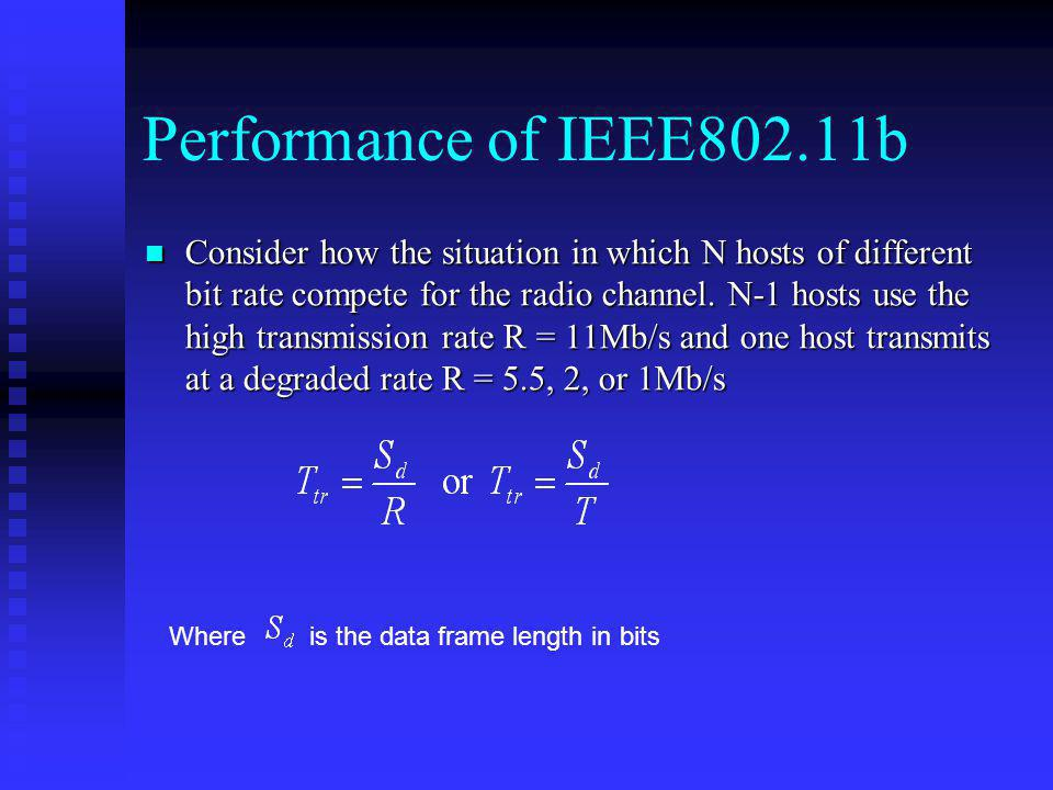 Performance of IEEE802.11b