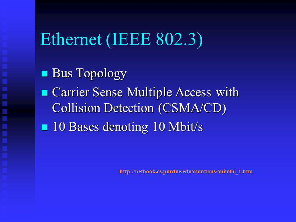 Ethernet (IEEE 802.3) Bus Topology