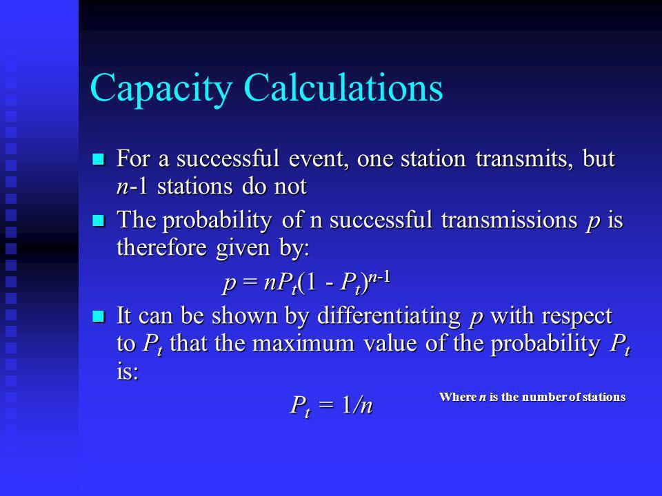 Capacity Calculations