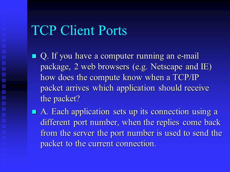 TCP Client Ports