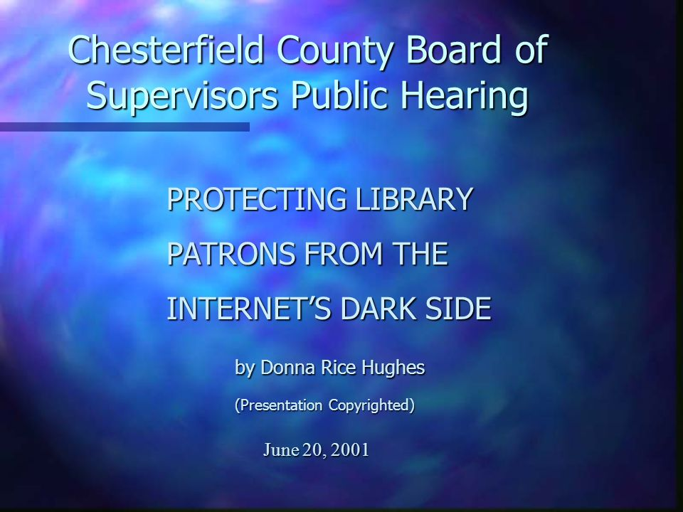 Chesterfield County Board of Supervisors Public Hearing