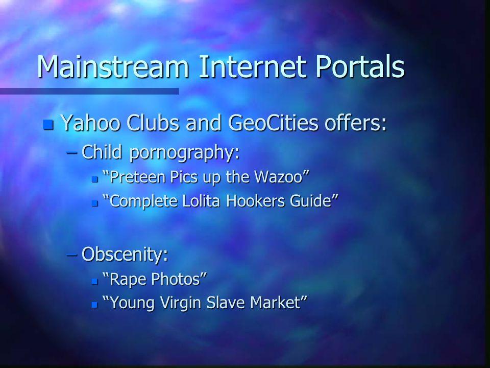 Mainstream Internet Portals