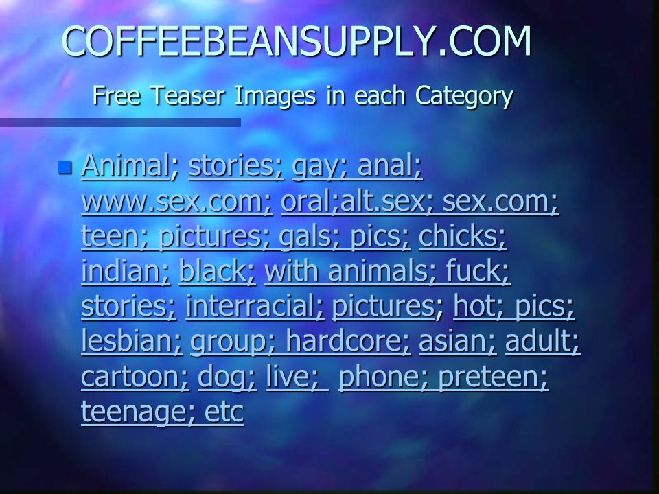 COFFEEBEANSUPPLY.COM Free Teaser Images in each Category