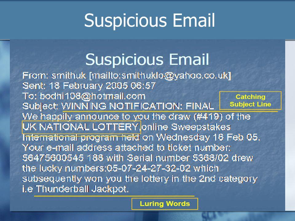 Suspicious Email