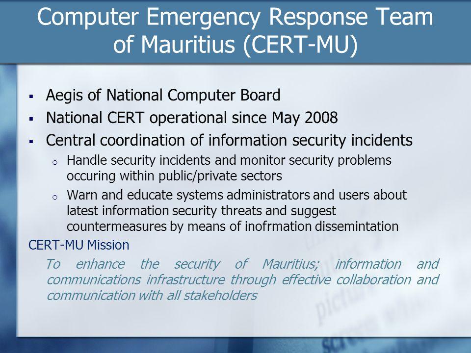 Computer Emergency Response Team of Mauritius (CERT-MU)
