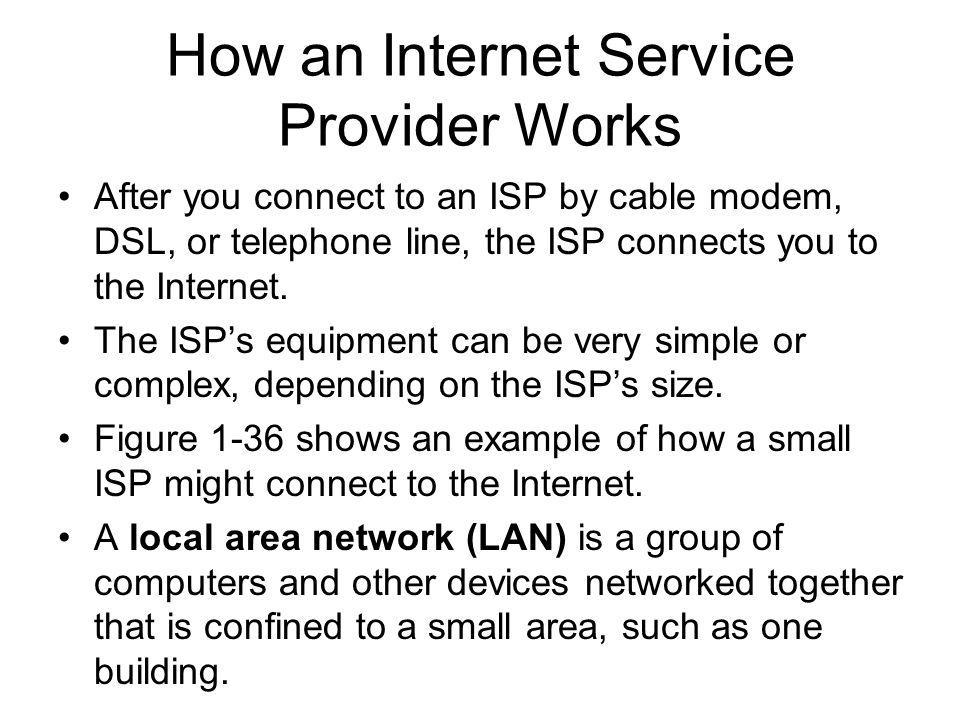 How an Internet Service Provider Works