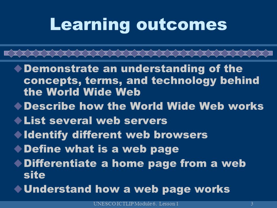 UNESCO ICTLIP Module 6. Lesson 1