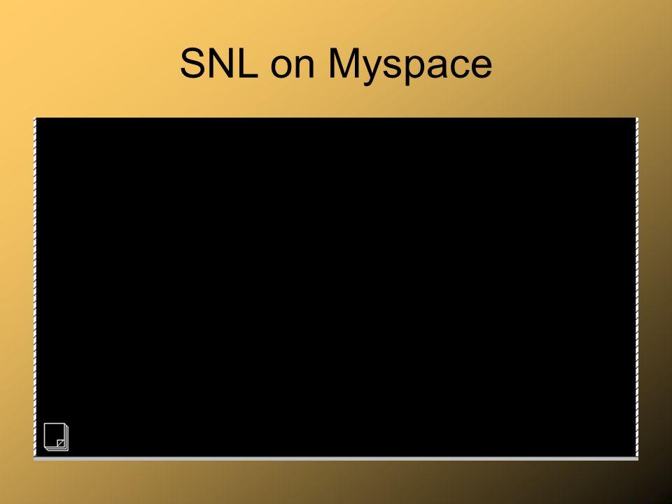 SNL on Myspace