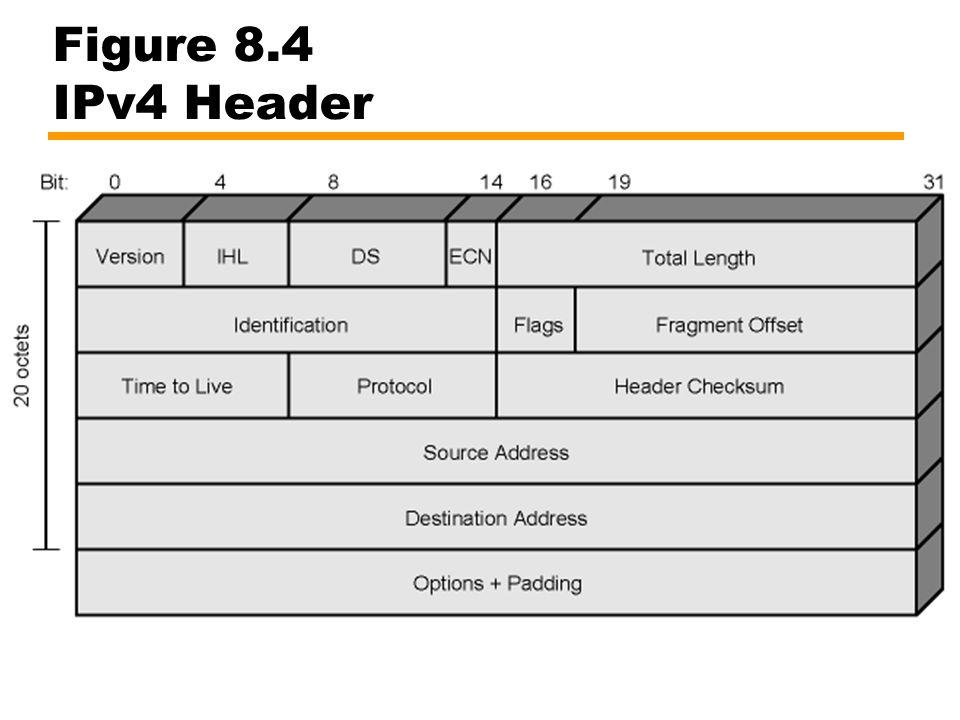 Figure 8.4 IPv4 Header
