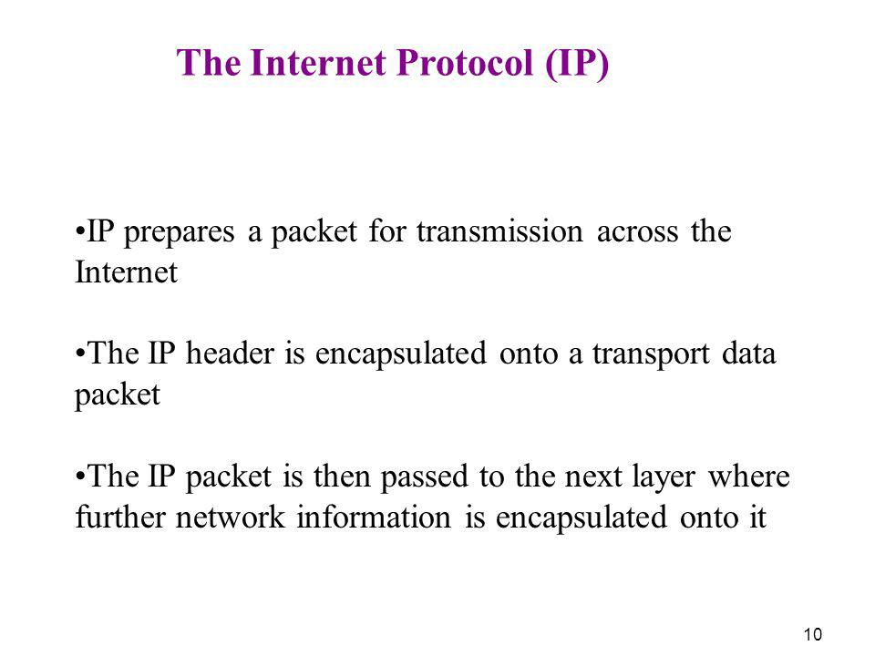 The Internet Protocol (IP)