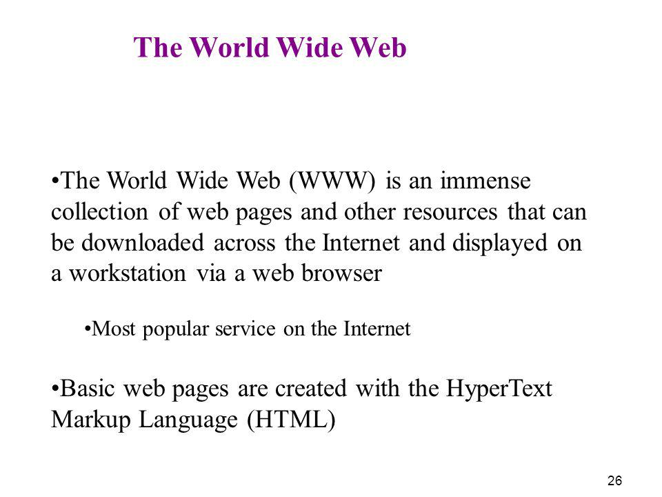 Basic web pages are created with the HyperText Markup Language (HTML)
