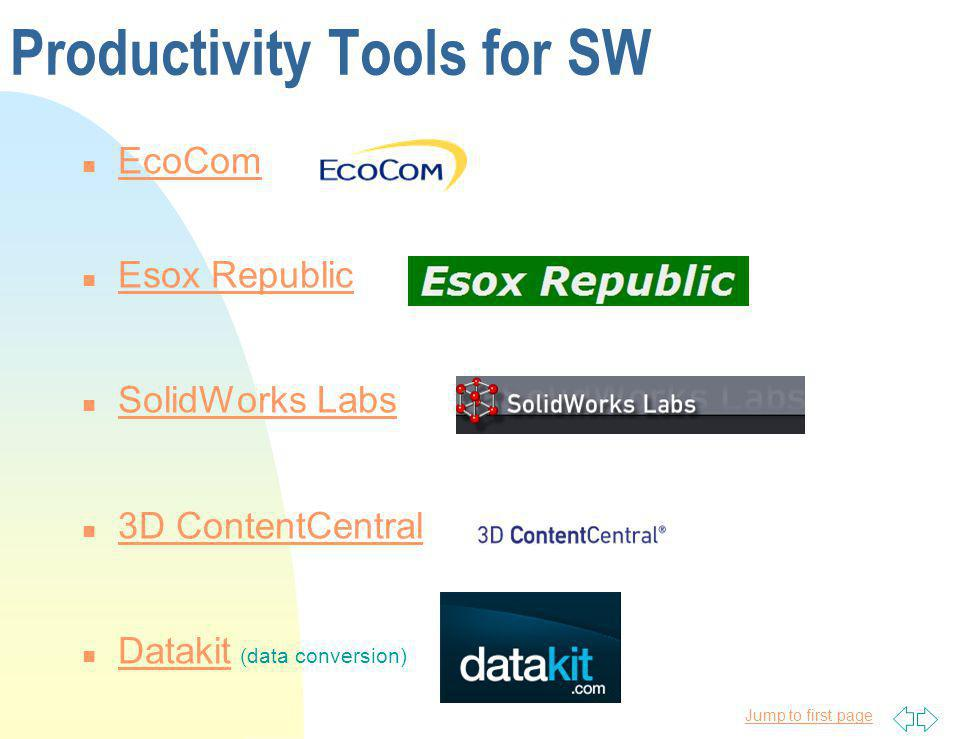 Productivity Tools for SW