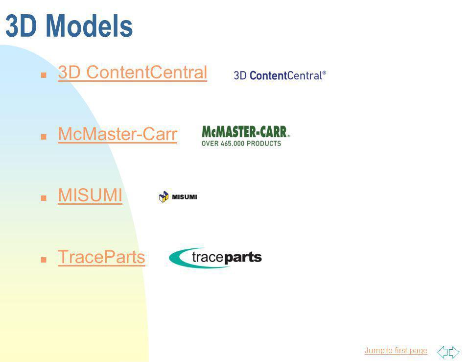 3D Models 3D ContentCentral McMaster-Carr MISUMI TraceParts