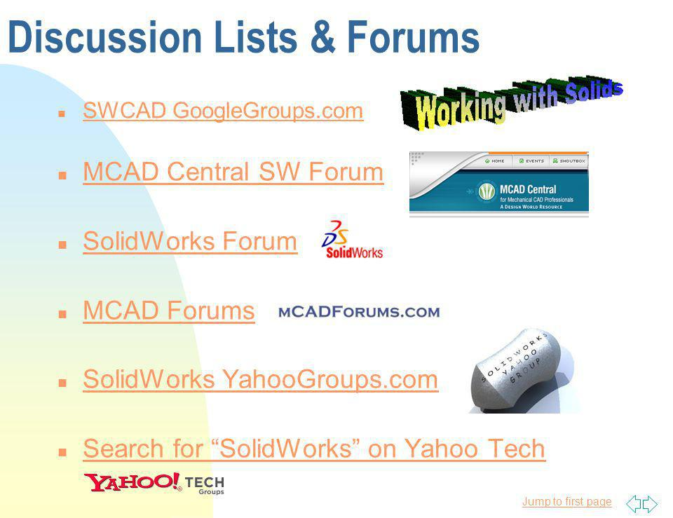 Discussion Lists & Forums
