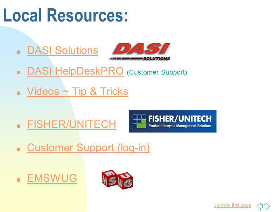 Local Resources: DASI Solutions DASI HelpDeskPRO (Customer Support)