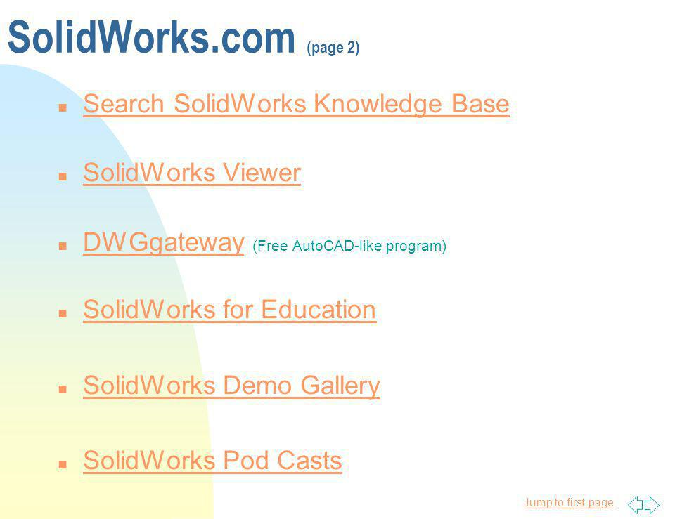 SolidWorks.com (page 2) Search SolidWorks Knowledge Base