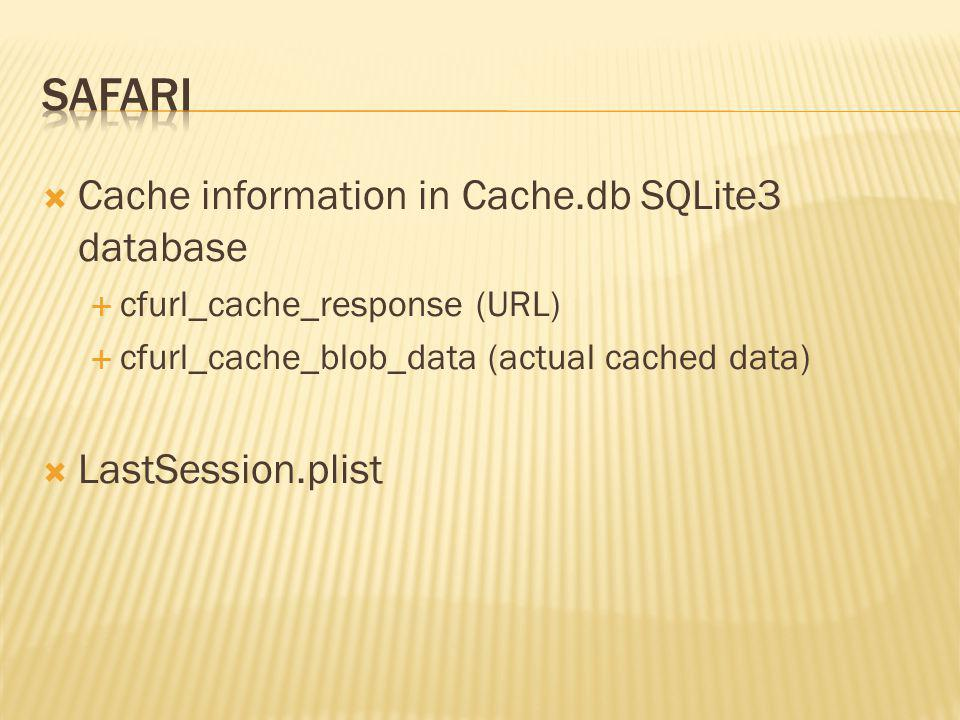 Safari Cache information in Cache.db SQLite3 database
