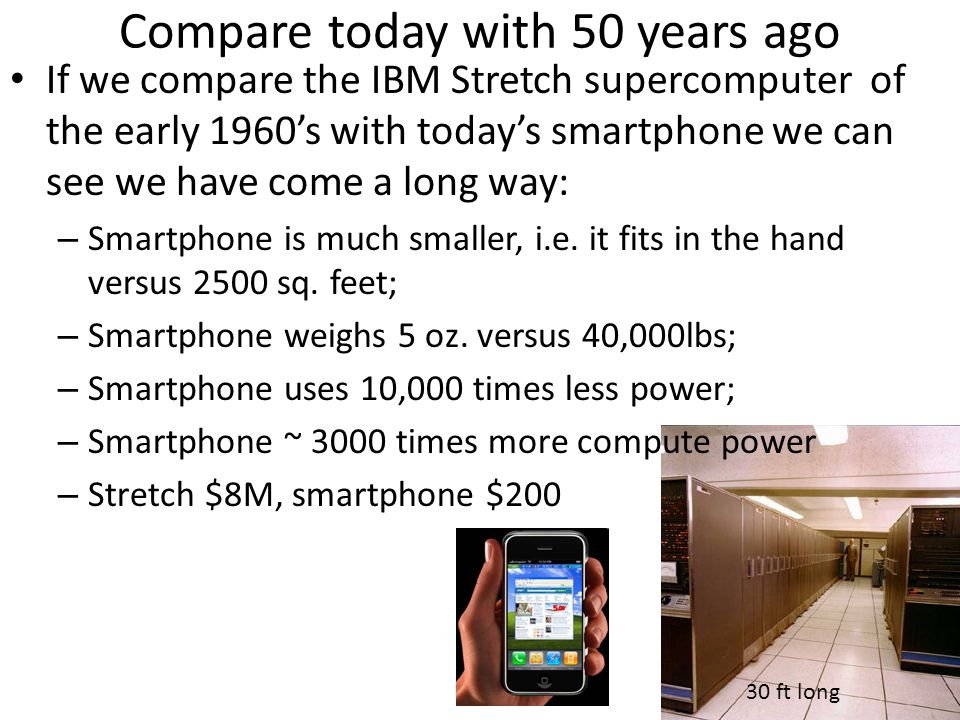 Compare today with 50 years ago