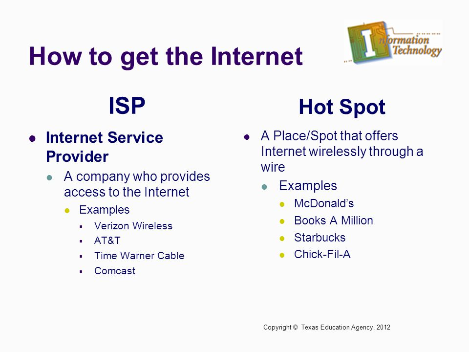 How to get the Internet ISP Hot Spot Internet Service Provider