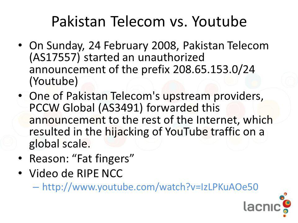 Pakistan Telecom vs. Youtube
